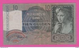 PAYS BAS - 10 Gulden Du 16 Maart 1942 - Pick 56b VF+ - [2] 1815-… : Kingdom Of The Netherlands