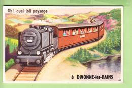 DIVONNE Les BAINS - Arrivée En Train Et En 10 Vues - Carte à Système - TBE - 3 Scans - Divonne Les Bains