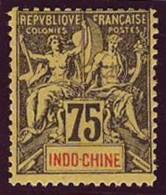 INDOCHINE  - Yv. 14  - Type Groupe - Faux De Fournier  ..Réf.AFA22847 - Indochine (1889-1945)