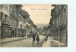 NANTUA - Rue Du Collège Animée -  2 Scans - Nantua