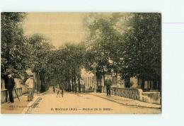 MONTLUEL - Avenue De La GARE Tissée Et Colorisée ,   Avec Beau Plan Animé  -  2 Scans - Montluel