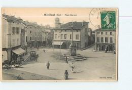 MONTLUEL - Place CARNOT Avec Beau Plan Animé  -  2 Scans - Montluel