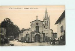 MONTLUEL - L' Eglise Notre Dame  Animée  - 2 Scans - Montluel