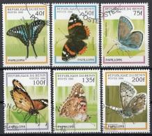 Benin 1996 Sc. 801-806 Farfalle Butterfly Papillons Mariposas - Full Set CTO - Benin – Dahomey (1960-...)