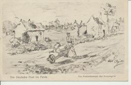 """AK """"Postordonnanz Der Kompagnie"""" - Weltkrieg 1914-18"""