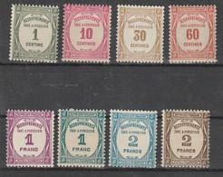France Taxe N° 55 à 62** Série Compléte De 8 Valeurs - 1859-1955.. Ungebraucht