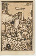 """AK Künstlerkarte DRK """"Verteilung Der Feldpost"""" - Weltkrieg 1914-18"""