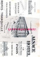 75- PARIS- BUVARD ALSACE HOTEL -13 RUE DES DEUX GARES -GARE EST ET NORD- - H