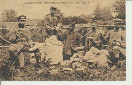 """AK """"Sortieren Der Heimatpost Beim R.E.R 2"""" - Weltkrieg 1914-18"""