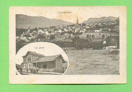 CPA FRANCE 67  ~  LUTZELHOUSE  ~  Vue Générale Et La Gare  ( G. Schmitt )  2 Scans - Frankrijk