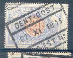 F675 -België  Spoorweg Chemin De Fer  Met Stempel GENT OOST - 1895-1913