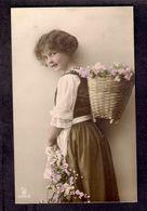Beautiful Girl 1910s Postcard - Portraits