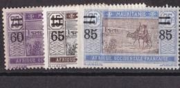 Mauritanie N° 36 à 38** - Mauritania (1906-1944)