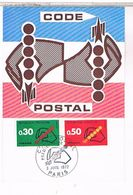 POSTE  ET FACTEURS    CODE POSTAL 1972 CPM  TBE  TT484 - Poste & Facteurs