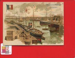 Dijon Pernot Jolie Chromo Didactique  Texte Au Dos Grands Ports Port Monde Illustré Tamagno FRANCE LE HAVRE HARFLEUR - Pernot