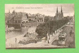 CPA FRANCE 67  ~  STRASBOURG  ~  1185  Quai Des Pêcheurs  ( Paulus & Recht )  2 Scans  Animée Tram - Strasbourg