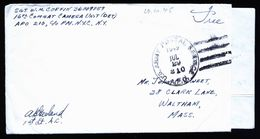 A5149) US Military APO 210 Cover From China 29.7.1945 To Waltham / US - Vereinigte Staaten
