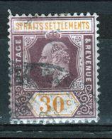 Straits Settlements 1906 King Edward VII Thirty Cent Dull Purple And Orange Yellow Used Stamp. - Straits Settlements