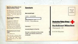 Carte  Avis Recherche Croix Rouge - Other