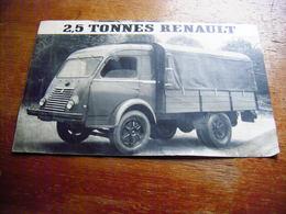 CAMION 2,5 TONNES RENAULT PUBLICITE ANNEES 60 - Camions