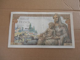Francia Mille Francs 1942 - 1871-1952 Circulated During XXth