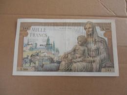 Francia Mille Francs 1942 - 1 000 F 1940-1944 ''Commerce Et Industrie''