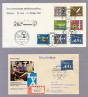 Germany Bund 1965 Postkarte + FDC R Brief Erste Internationale Verkehrsausstellung (IVA) München Traffic Exhibition - Transport
