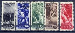 SOVIET UNION 1935 Anti-war Propaganda Set Used.  Michel 494-98 - 1923-1991 USSR