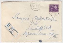 Yugoslavia, Letter Cover Registered Travelled 1945 Sušak Pmk B180210 - 1945-1992 Socialist Federal Republic Of Yugoslavia