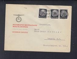 Dt. Reich Brief 1934 Flughafen-Restaurant Halle Leipzig - Briefe U. Dokumente