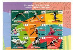 INDONESIA 2018-1 ASIAN GAMES SPORTS BLOCK STAMPS MNH - Indonésie