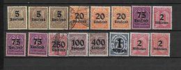 LOTE 1635 /// ALEMANIA IMPERIO   YVERT Nº: LOTE DE LA SERIE 37/47 - Oficial