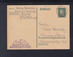 Dt. Reich PK 1931 Diez Neudeutsches Bundeszeltlager - Covers & Documents