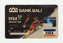 Bank Bali INDONESIA Winter Olympic Games NAGANO 1998 VISA Expired 1998 - Geldkarten (Ablauf Min. 10 Jahre)