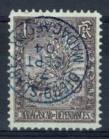 Madagascar,  Zebu, 1c., VFU, 1903,  Superb Postmark From Diego-Suarez (Antsiranana) - Madagascar (1889-1960)
