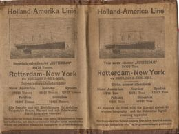 "Rare Souvenir De Paquebot, Pochette Du Steamer ""Rotterdam"" (1908-1940), Holland-Amerika Line, C. 1920, HAL - Historische Documenten"