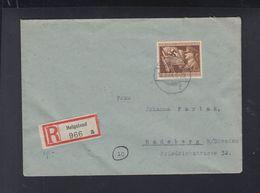 Dt. Reich R-Brief 1944 Helgoland Nach Radeberg - Deutschland