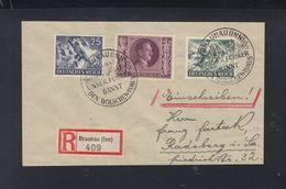 Dt. Reich R-Brief 1943 Braunau Inn Sonderstempel - Deutschland