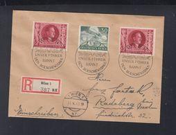 Dt. Reich R-Brief 1943 Wien Sonderstempel Unser Führer Bannt Den Bolschewismus - Briefe U. Dokumente