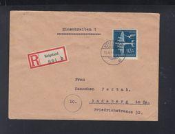 Dt. Reich R-Brief 1944 Helgoland Nach Radeberg (2) - Deutschland