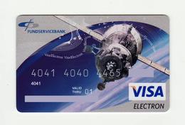 Fundservicebank RUSSIA Spaceship VISA Expired 2001 - Geldkarten (Ablauf Min. 10 Jahre)