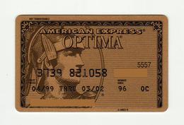 American Express USA Optima Gold AMEX Expired 2002 - Geldkarten (Ablauf Min. 10 Jahre)