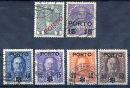 AUSTRIA 1916-17 Postage Due Overprint Set Used.  Michel 58-63 - Postage Due