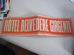 ETICHETTA BELVEDERE GIRGENTI - Reiseprospekte