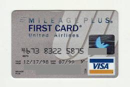 FCC National Bank USA United Airlines VISA Expired 1999 - Geldkarten (Ablauf Min. 10 Jahre)