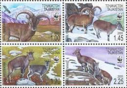 Ta 0001 Tadschikistan 2005 MNH** Mi.Nr. 392-395 Zd With Perforation - Tajikistan