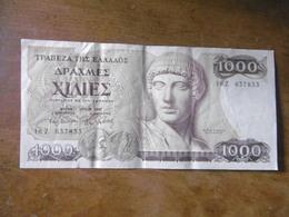 BILLET-GRECE-1000 DRACHMES-1987 - Grèce