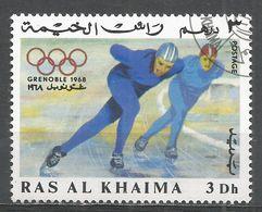 Ras Al Khaima 1967. Michel #211 (U) Speed Skating - Ras Al-Khaima