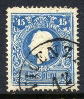 AUSTRIA: LOMBARDY VENETIA 1858 15 So.r Type II  Used.  Michel 11 II - 1850-1918 Empire
