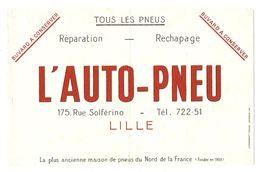 BUVARD AUTO PNEU 175 RUE SOLFÉRINO LILLE - TOUS LES PNEUS RÉPARATION RECHAPAGE - Automobile
